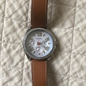 FossiL Cecile watch with leather band